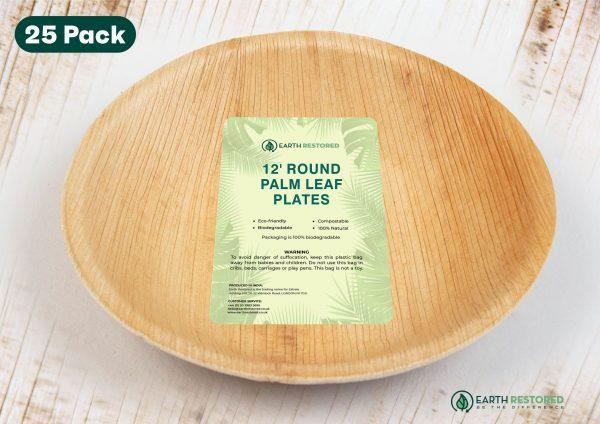 12inch Round Palm Leaf Plates