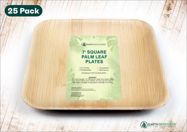 7inch Square Palm Leaf Plates