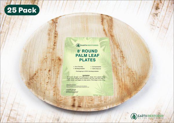 8inch Round Palm Leaf Plates