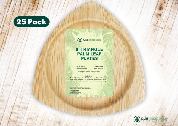 9inch Triangle Palm Leaf Plates
